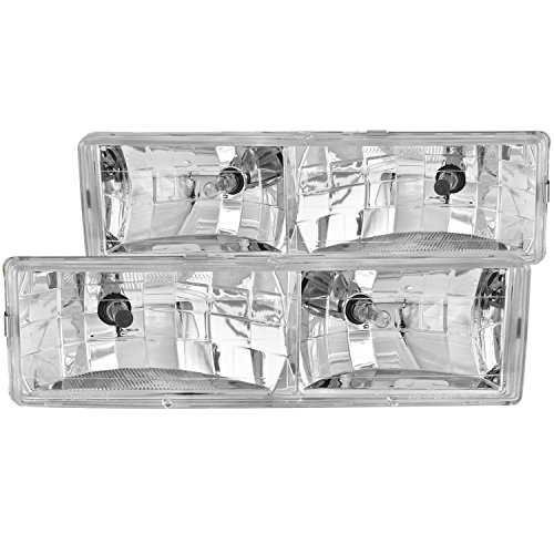 Anzo USA 111004 Chevrolet Crystal Chrome Headlight Assembly - (Sold in Pairs)