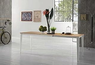 ZAMAGNA - Tavolo allungabile Dom 160 Plus Struttura: Alluminio Laccato Antracite RAL7043 - Piana: Melaminico Fenix Bianco