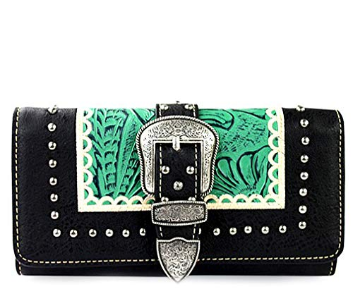 Montana West Embroidered Trifold Wristlet Wallets
