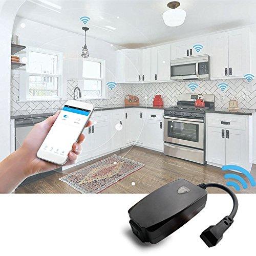 HTAIYN AC110-125V 10A 1250W Conector WiFi resistente a prueba de agua en los EE. UU. Trabaje con Alexa Google Home Bombilla led: Amazon.es: Iluminación
