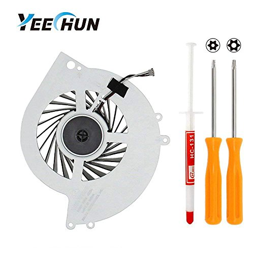 (YEECHUN Replacement Internal CPU Cooling Fan for Sony PlayStation 4 PS4 CUH-1001A 500GB KSB0912HE Series + Tool Kit)