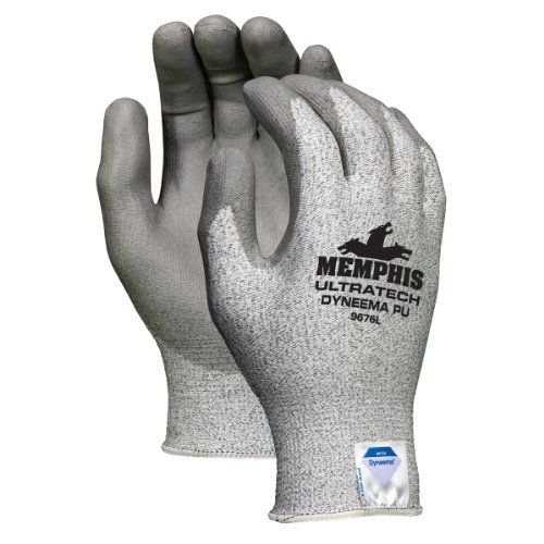 Memphis 9676L UltraTech Dyneema Cut Resistant PU Coated Gloves 12 Pair - Tech Ultra Gloves Dyneema