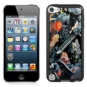 NEW Unique Custom Designed iPod Touch 5 Phone Case With Pacific Rim Movie Robot Sword_Black Phone Case