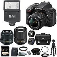 Nikon D3300 DSLR Camera 4 Lens Kit: 18-55mm, 55-200mm VR Lens, 52mm Wide & Tele Lens and 32GB Bundle Benefits Review Image