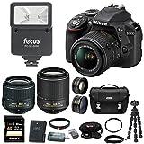 Nikon D3300 DSLR Camera 4 Lens Kit: 18-55mm, 55-200mm VR Lens, 52mm Wide & Tele Lens and 32GB Bundle