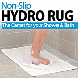 Non-Slip Grip, Fast Drying Hydro Shower and Bath Rug. Prevents Slips and Falls In The Shower. Perfect For Elders and Children, White