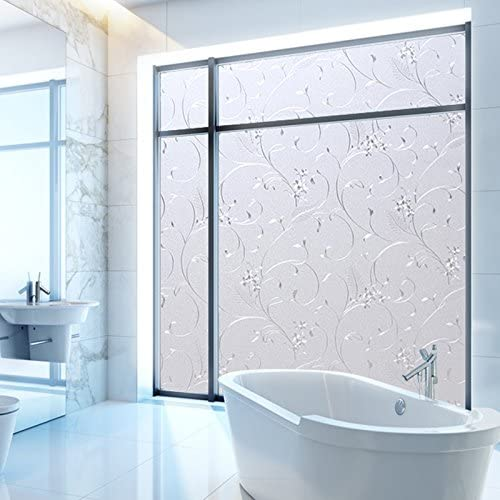 Bloss Window Privacy Film Wheat Flower Frosted Window Glass Film No Glue Door Window Covering for Office and Home Decoration,23.6 inches by 78.7 inches