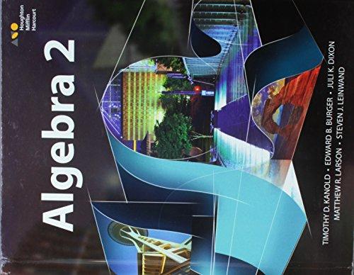 HMH Algebra 2: Student Edition 2015