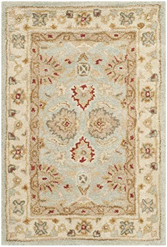 Safavieh Antiquities Collection AT822A Handmade Traditional Oriental Grey Blue and Beige Wool Area...