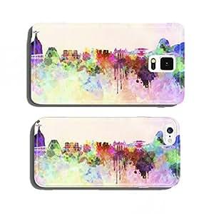 Rio de Janeiro skyline in watercolor background cell phone cover case Samsung S5