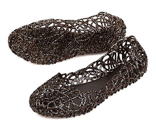Vokamara Damen Sommer - Schuhe Leer Aus Walkingschuhe Schwarz