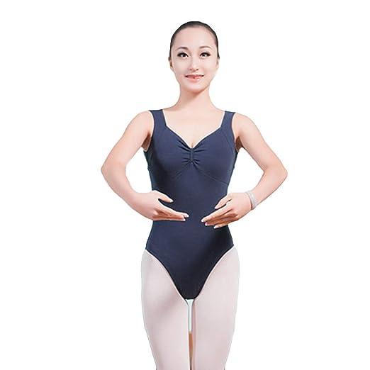 WYGH Adulto Mujer Ballet Leotardo Sin Mangas Escotado por detrás ...