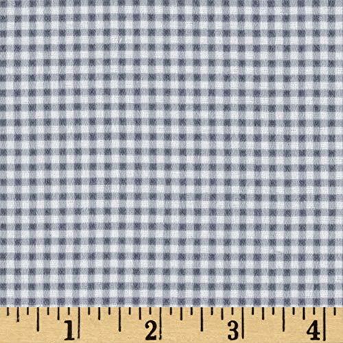 Mook Fabrics Gingham Flannel Fabric, Grey, Fabric By The Yard - Gingham Flannel Fabric