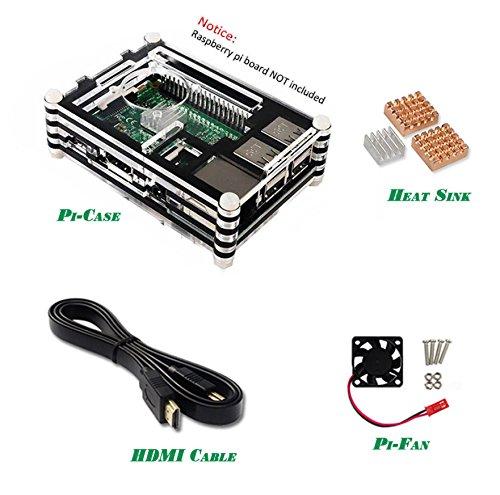 LWD 4 en 1 kit de iniciación para Raspberry Pi 2/3 disipadores de ...