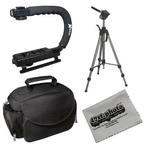 Opteka Field Kit with X-Grip, 70'' Tripod, Microfiber Gadget Bag and Cleaning Cloth for Sony Alpha a99, a77, a65, a57, a37, NEX-7, NEX-6, NEX-5, NEX-3 and HX200V by Opteka