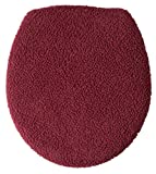 heated cushion toilet seat WalterDrake Sherpa Toilet Seat Lid Cover by OakRidge Comforts (Burgundy)