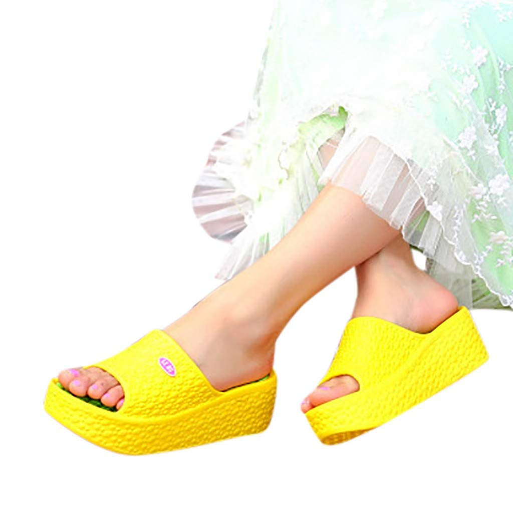 Slippers with Thick Soles, Women Summer Sandals Platform Shoes Beach Hole Shoes Fashion Flip Flops