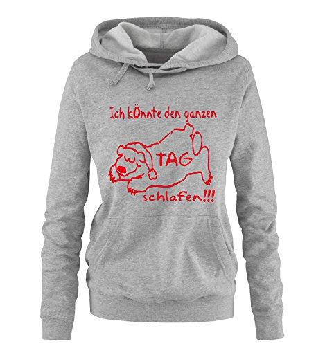 Donna felpa Shirts Rosso Grigio Comedy fSTqZ