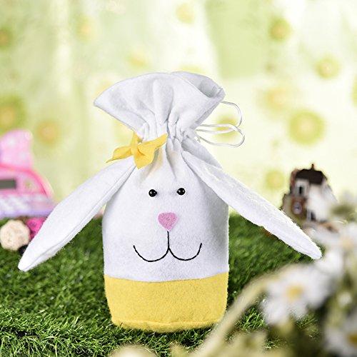 Sacchetti compleanno, [3 Pcs]Borsa di stoffa sacchetto per Caramella Confetti Borsa di Regalo Sacchetto Coniglietto di Forma del Coniglio Sacchetti di Biscotto -3 pezzi (Coloure1) iBaste