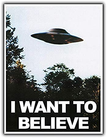 2 Alien Wall Art /'I Don/'t Believe in Humans/' Aged Metal Wall Sign