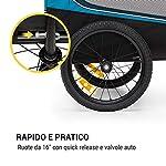 KLAR-FIT-Husky-Race-Rimorchio-da-Bici-per-Cani-Volume-ca-282-L-Materiale-Tela-Oxford-600D-con-Rivestimento-PVC-Impermeabile-SmartSpace-Concept-Pieghevole-Carico-Massimo-40-kg
