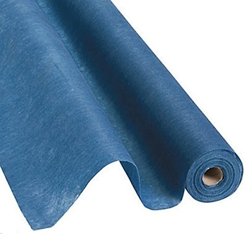 Navy Roll Runner - Fun Express Navy Blue Gossamer Roll 100 FT X 3 FT Wedding Aisle Decoration Table Cover, Dropback
