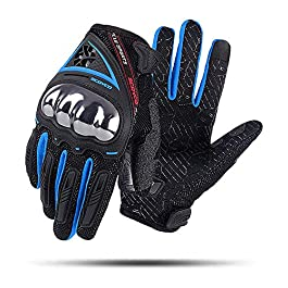 Scoyco Men's Motorcycle Gloves,Safety Comfortable Extreme Sports Guard Breathable Outdoor Race Gloves.