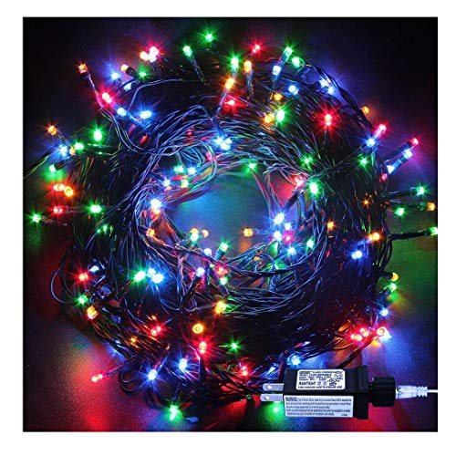 Indoor Christmas String Lights - 220 LEDs 82ft/25m 8 Modes Memory Function End-to-End Plug in Outdoor Waterproof Decorative Fairy Twinkle Lights for Tree/Wedding/Thanksgiving Day/Patio/Room - Colorful (Lights Tree Christmas)