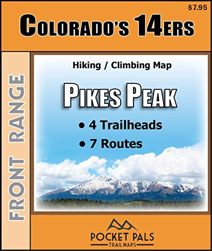 Outdoors LLC - Pocket Pals Trail Maps Colorado 14ers - Pikes Peak