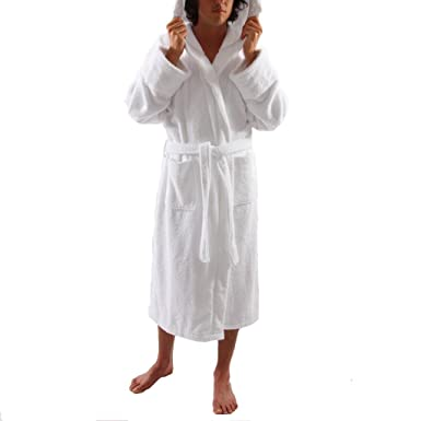 Image Unavailable. Image not available for. Color  Men s White Heavy 3  Pound Hooded Terry Bathrobe 53 quot  Length 100% Cotton 3bf4fc63c