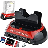 Dual Slots USB 2.0 to IDE SATA Hard Drive 2.5 3.5 with SATA I II III HDD Docking Station With Card Reader(No Support the WD IED Hard Drive)