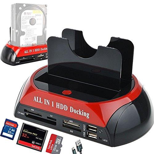 Dual Slots USB 2.0 to IDE SATA Hard Drive 2.5
