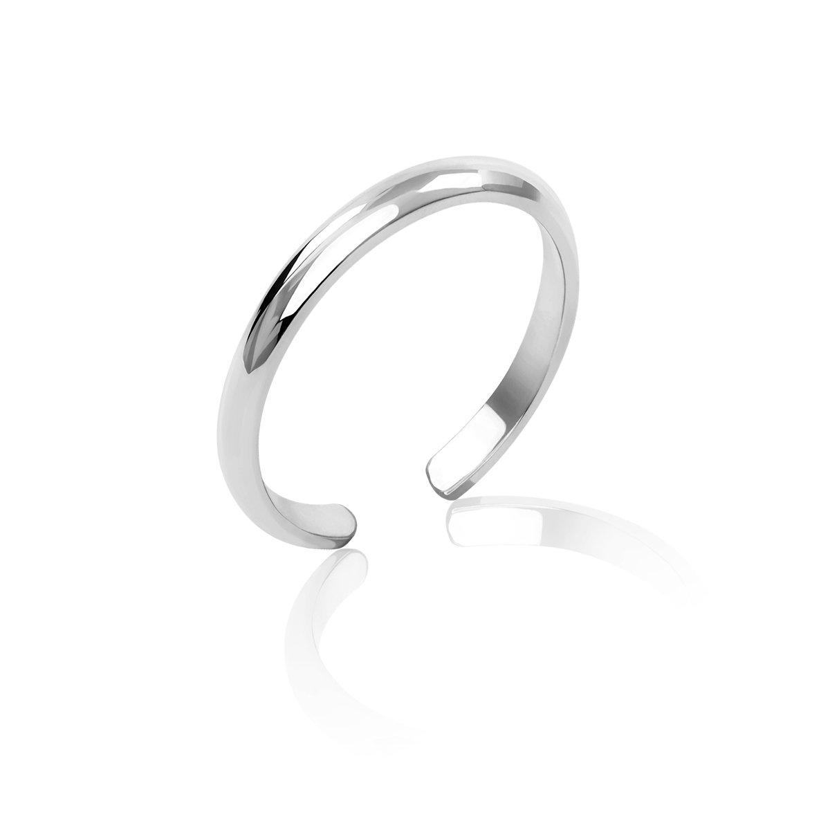 Honolulu Jewelry Company Sterling Silver Band Toe Ring (2mm)