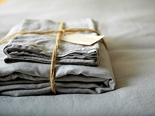 Merryfeel Luxurious 100% Pure French Linen Sheet Set - Full