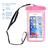 Waterproof Case, MCUK Universal Dry Bag Waterproof Phone Bag Pouch with Neck Strap for iPhone 7 6 6S Plus SE 5S 5C, Samsung Galaxy S8, S7 S6 edge, LG G6 G5 Up To 6.0