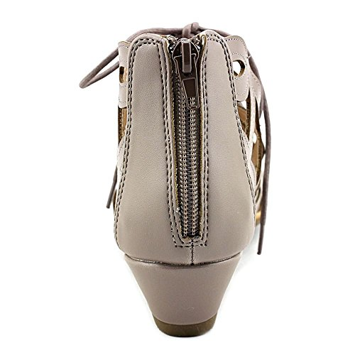 Esprit Womens Cacey Geometrische Gekooide Laser Cutout Lace Up Open Teen Sleehak Bootie Elephant