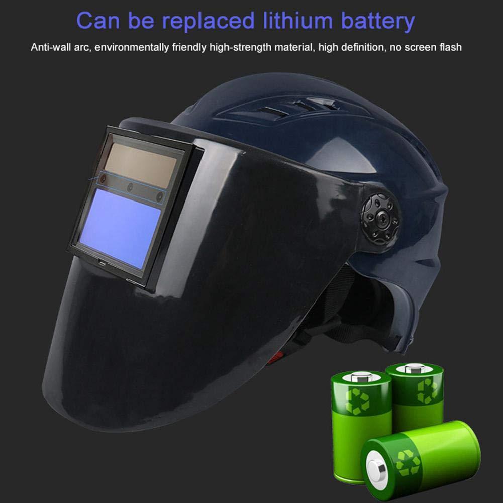 Casco de soldadura Solar automático 9 A 13 DIN, protección de soldadura, 1/10000s Change de luz rápida, 3 sensores de arco, protección para ...