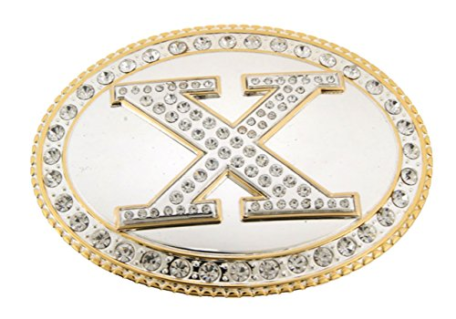 Bling Buckle Belt Gold (Initial Letters