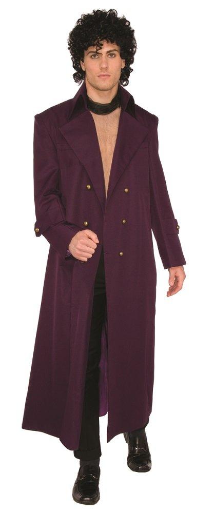 Forum Men's Rock Royalty Deluxe Long Coat, Purple, STD