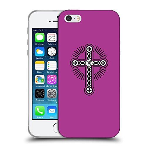 GoGoMobile Coque de Protection TPU Silicone Case pour // Q07920621 Christian Cross 17 byzantin // Apple iPhone 5 5S 5G SE