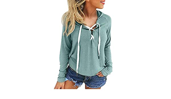 Womens Casual Hoodie Sweatshirt Long Sleeve Plus Size Pullover Tops Girls Women Shrits, Green, XXL, C at Amazon Womens Clothing store: