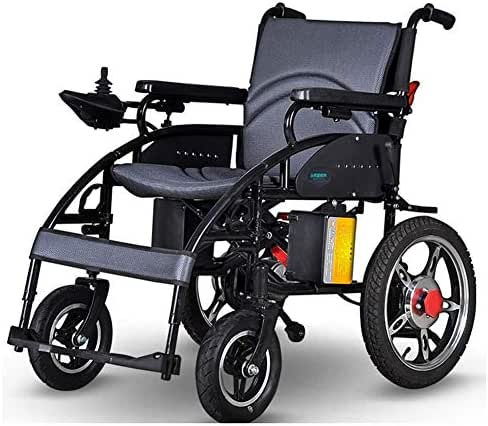 AVKL Wheelchair, Electric Wheelchair Folding Lightweight Old Man Full Elderly Disabled Four Wheel Automatic Intelligence