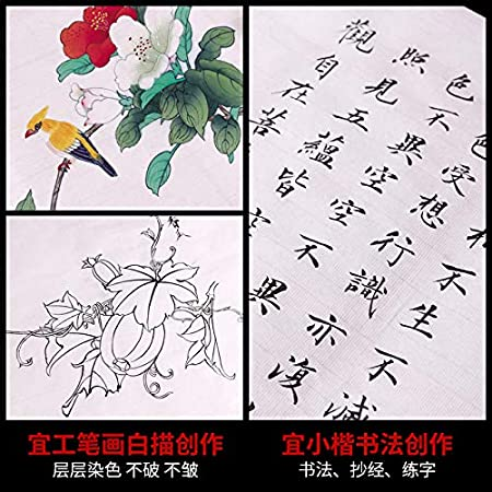 Tianjintang Handmade Chinese Sumi Calligraphy Painting Xuanzhi Rice Paper 100/% Ripe Xuan Paper 熟宣 13.4 in x 27 in