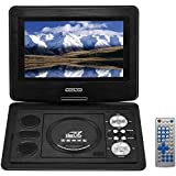 DDAUTO 10.1 inch Swivel Screen Portable DVD Player Built-in Rechargeable Battery Multimedia Function Support with USB/SD Card (DD0138B)
