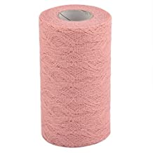 uxcell® Lace Wedding Party Banquet Hall DIY Decor Tulle Spool Roll 6 Inch x 25 Yards Coral Pink