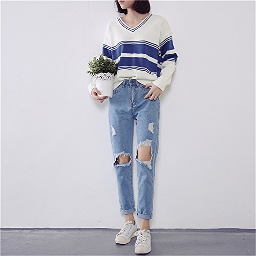 clothing Bleu bleu COCO Tapered Jeans bleu Clair Femme SFHxPdwxqn