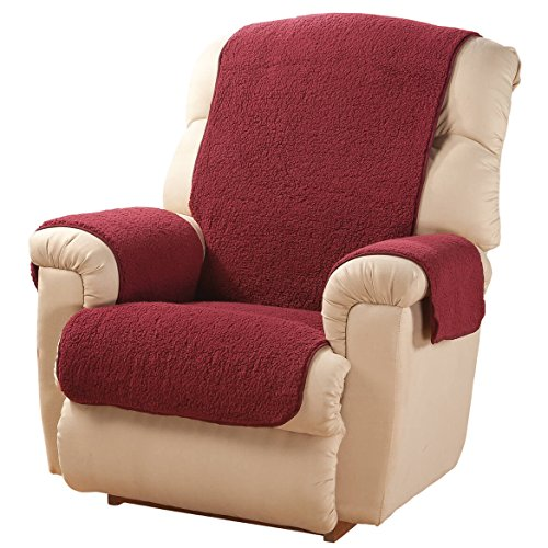 Sherpa Recliner Protector by OakRidgeTM, Burgundy