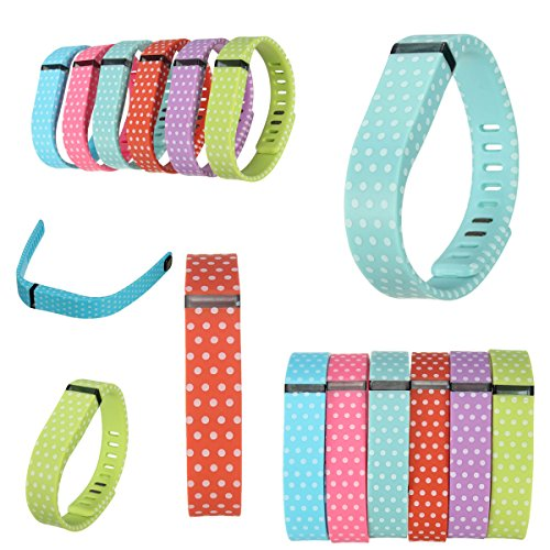 Audew Polka Dots Replacement Band With Clasp For Fitbit Flex Wristband Bracelet No Tracker Orange