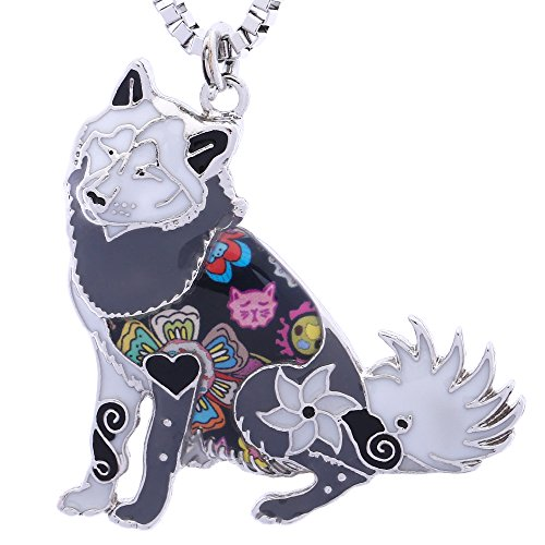 Luckeyui Alaskan Malamute Gifts Jewelry for Women Birthday Personalized Dog Lover Collection Necklace ()