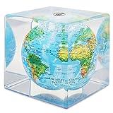 "Mova Relief Map Blue Globe Cube 5"""